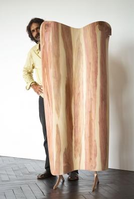 Paravent aus Zwetschgenholz
