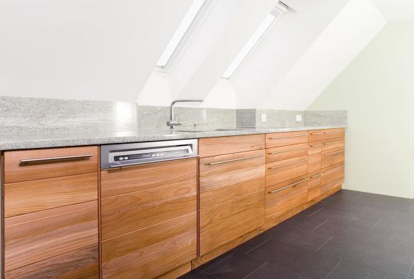 façade de cuisine   en orme